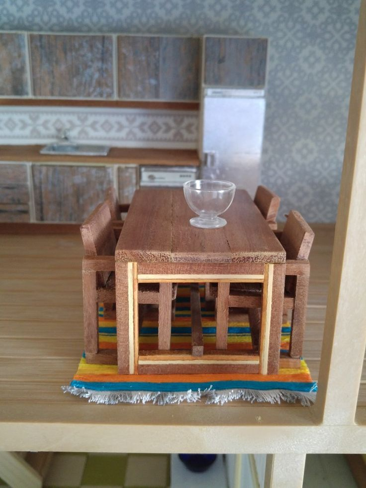 Designed and made by Kitty van Meurs. Lundby size.