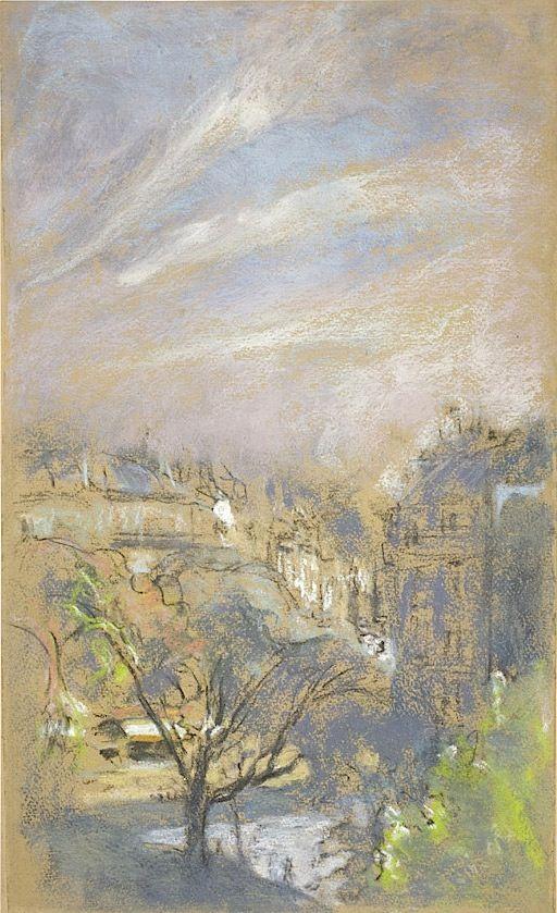 Éduard Vuillard /1868, Cuiseaux (Saône-et-Loire) - La Baule 1940 Effet matinal sur la place Vintimille