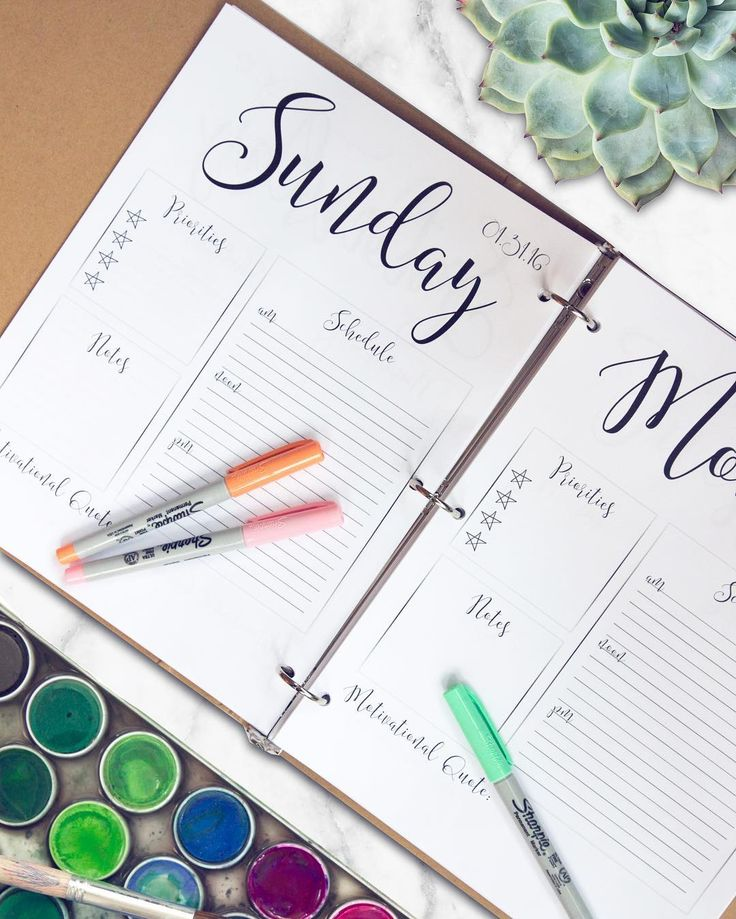 """""""My free 2016 daily planner #printable hit 1,000 downloads! One thousand people taking action to be more planned, organized and intentional. I'm impressed…"""""""