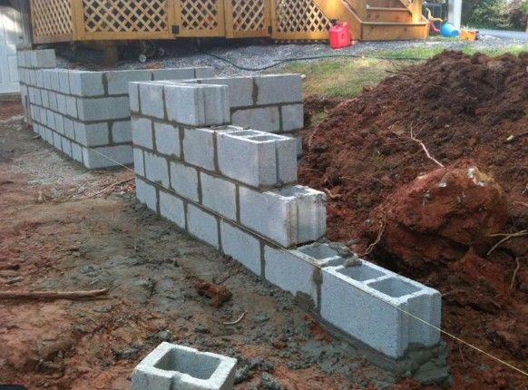 Diy A Concrete Hollow Block Wall Concrete Block Walls Concrete Blocks Concrete