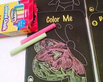 Pizarra de venta reutilizable para colorear libro de actividades libro sentía tranquilo libro 6 páginas a color y limpie lejos #QB69