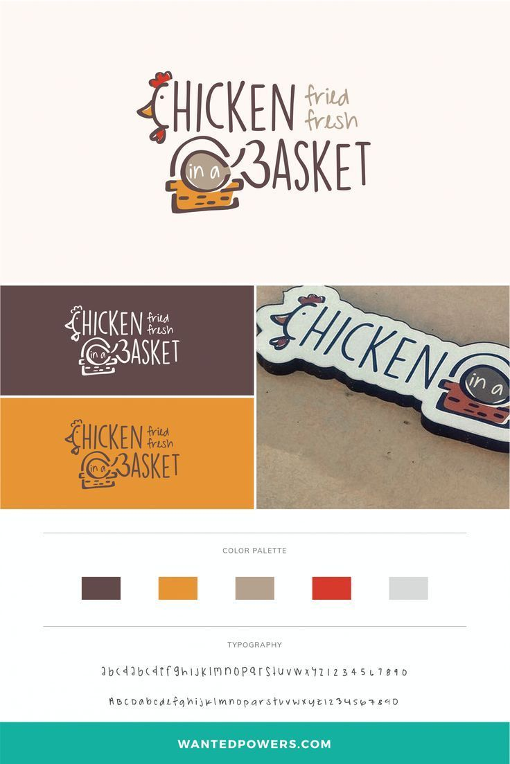 Fried Chicken Restaurant Logo Branding