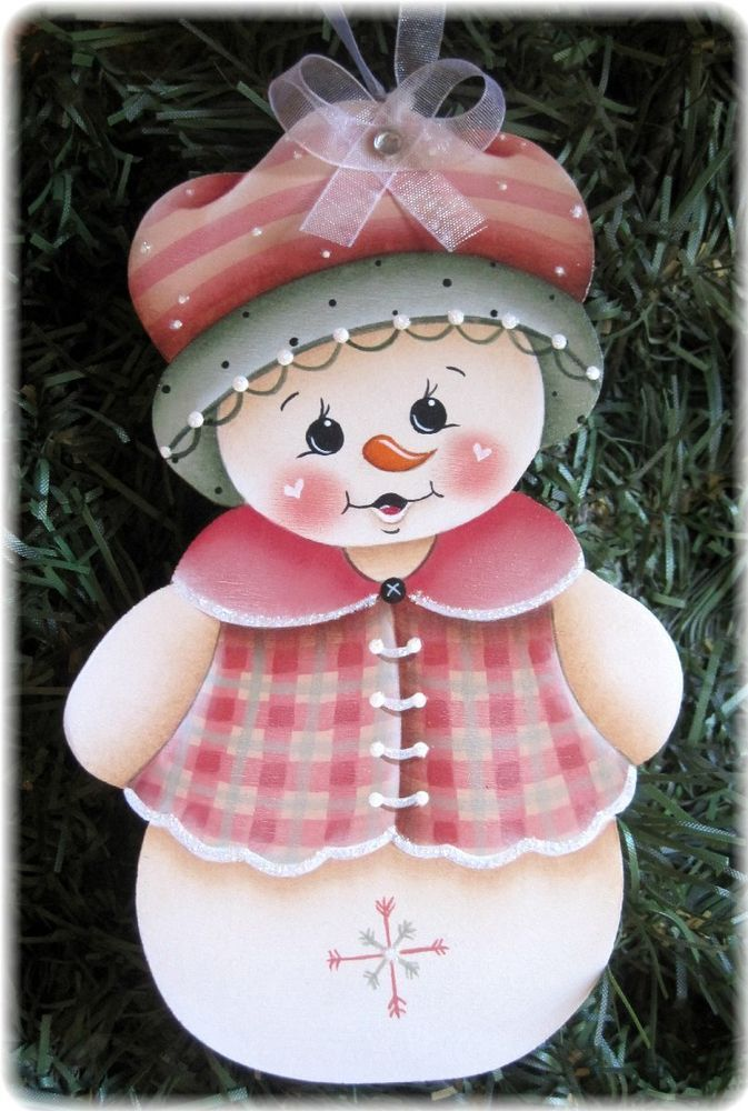 SNOW GIRL - Handpainted by Pamela House
