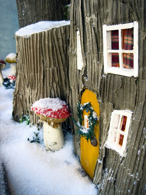 Anthropologie window display - could be the perfect fairy house