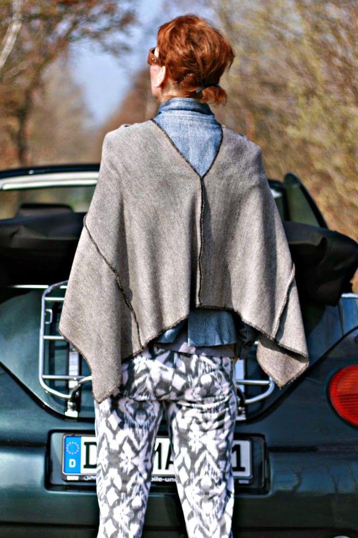 15 besten Poncho Bilder auf Pinterest | Ponchos, Kleidung nähen und ...