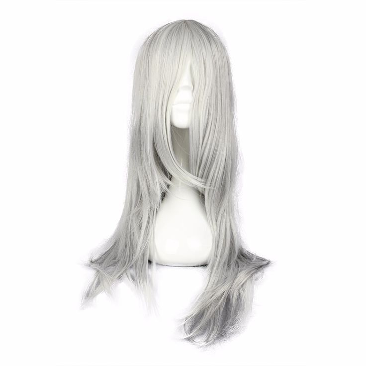 MCOSER Free Shipping 65cm Synthetic Long Wavy Silvery Gray Color Cosplay Wig 100% High Temperature Fiber Hair WIG-248A