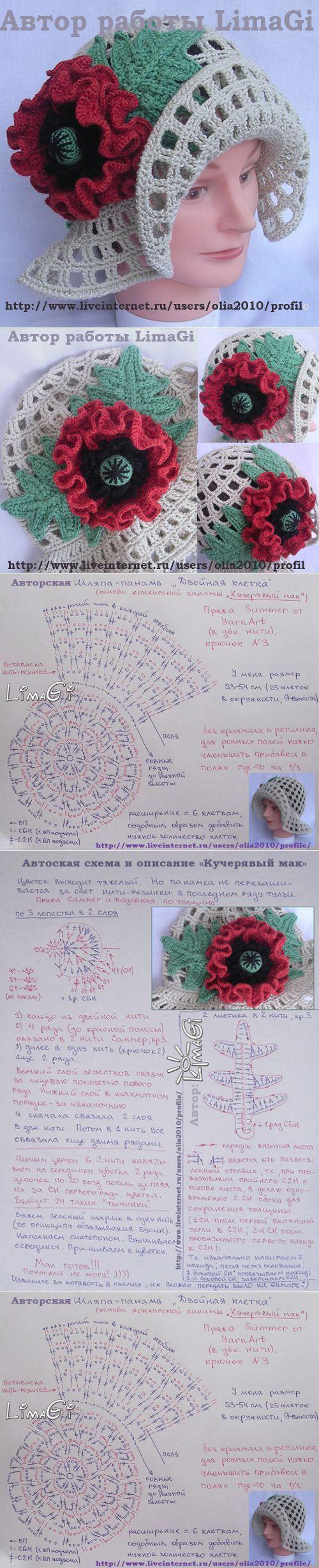 Mejores 57 imágenes de sombreros a crochet en Pinterest   Sombrero ...