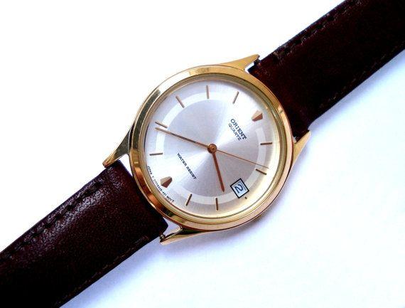 Vintage Reloj ORIENT Classic Japon Hombres 1980c por shopvintage1