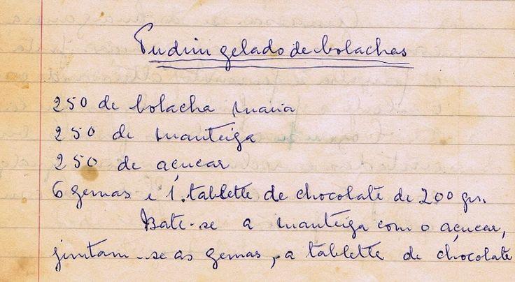 As Receitas da Avó Helena e da Avó Eduarda: Pudim Gelado de Bolachas (mais Glacê Real)