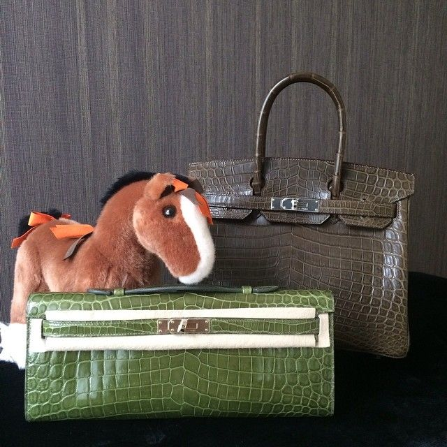 Exotic love!! Birkin 30cm in Gris Elephant, Niloticus croc in ...