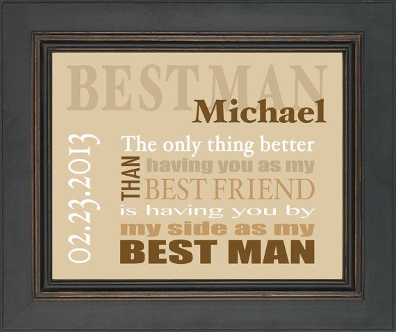 Best Man Gift  Wedding gift for Best Man  by KreationsbyMarilyn, $15.00