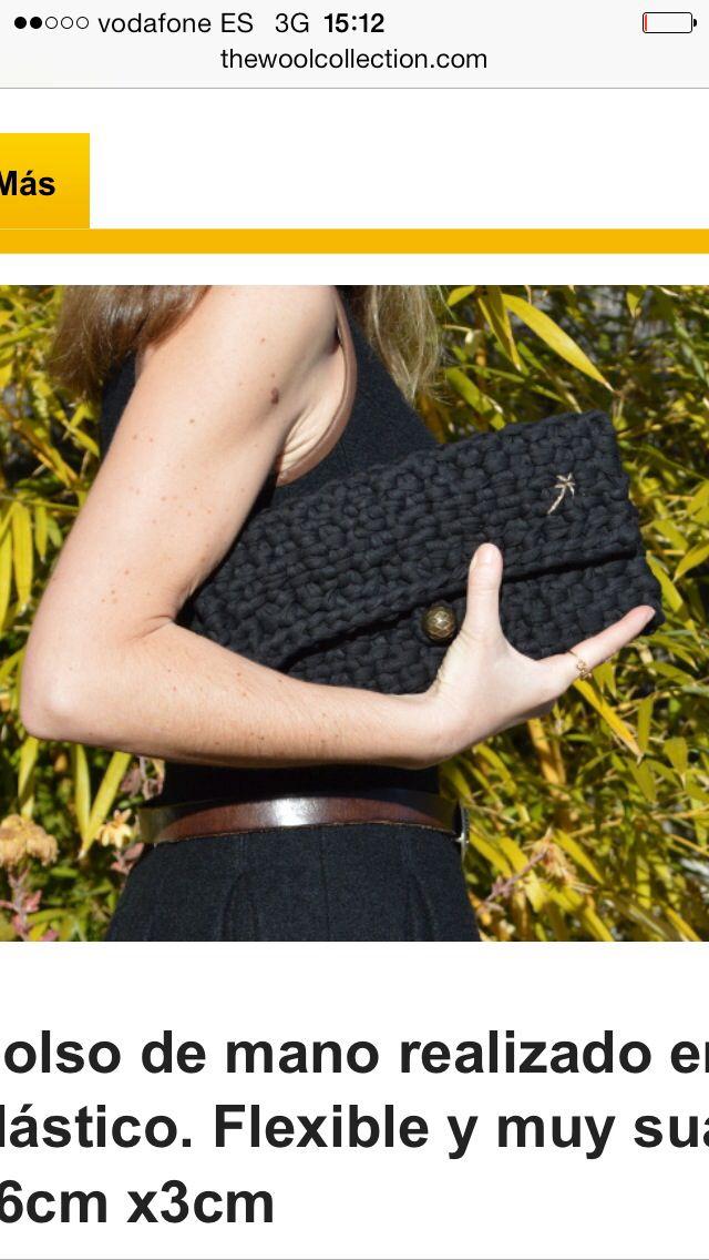 Nigth bag. #trapillo #tejer #clutch #moda #knit #knitting