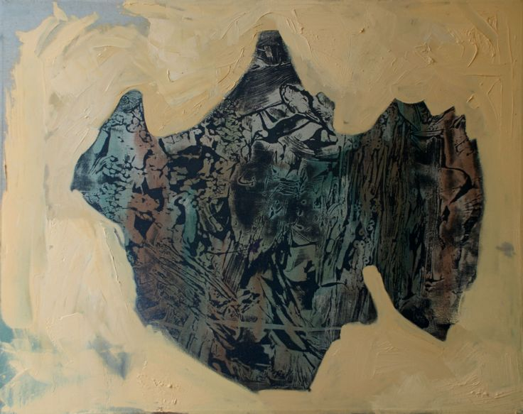 Untitled  Oil and mixed techik on canvas by David Nemeth