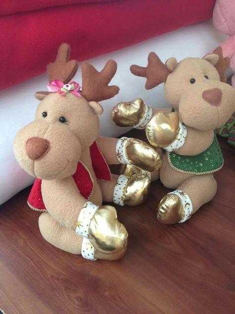 renos navideños en tela imagenes