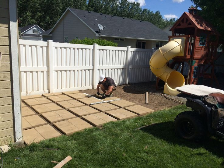"""Build your own patio! 12""""square pavers in sets of 4, far ... on Diy Backyard Patio Cheap id=92208"""