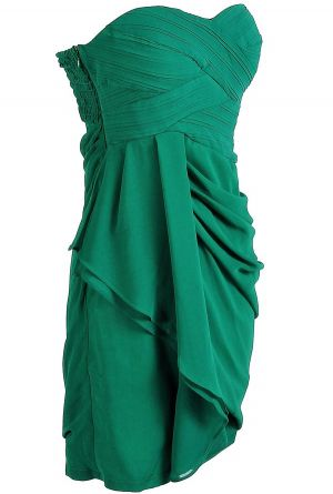 A perfect green dress to wear to a wedding or special occasion.