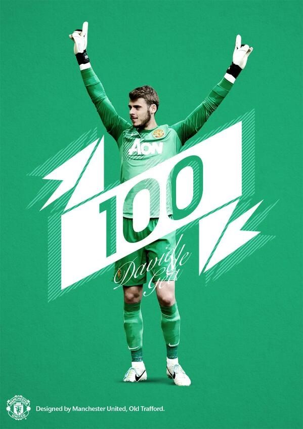 At 23 years and 25 days, David De Gea is the 2nd youngest GK behind Gary Bailey to play 100 games for United. 1.12.2013.