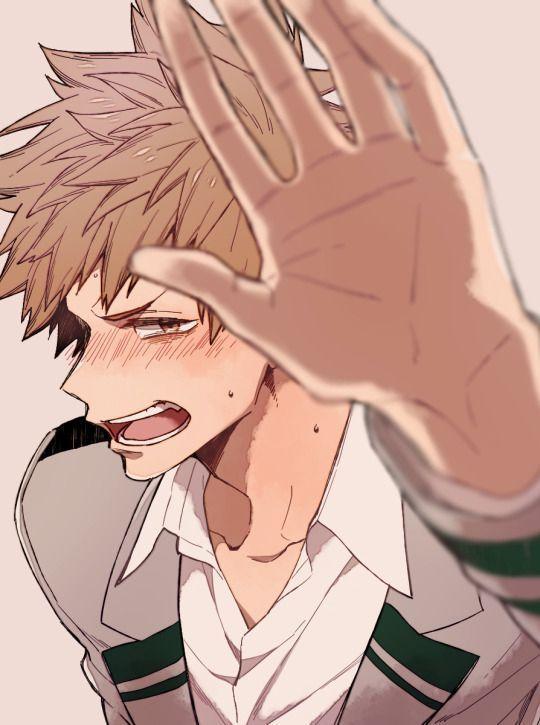 """Deku: *Le brota un corazoncito de la cabeza y piensa """"que apuesto se ve cuando se sonroja""""*"""