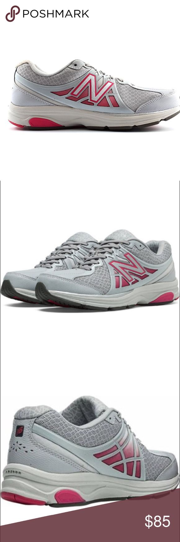 NEW BALANCE ww847v2 grey and pink NWT New Balance ww847v2. Women's size 7. Grey and pink. NWT, never worn. No box.  Synthetic/mesh upper for breathability and support Lace-up closure Collar, tongue and heel feature OrthoLite® cushioning foam inserts Seamless PHANTOM LINER® lining OrthoLite® footbed cushioning Polyurethane Strobel board for added padding Energy-returning full length ABZORB® midsole  No modeling. Open to reasonable offers!  Bundle & save 10%! 💕 New Balance Shoes Sneakers