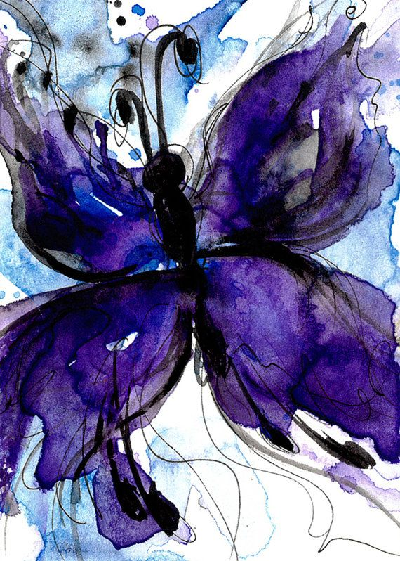 Butterfly Song 4 ... Original Watercolor by Kathy Morton Stanion