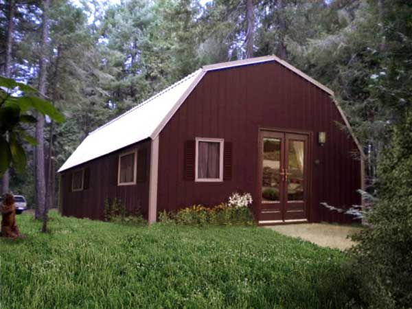 9 best steel building homes images on pinterest steel for Gambrel barn homes kits