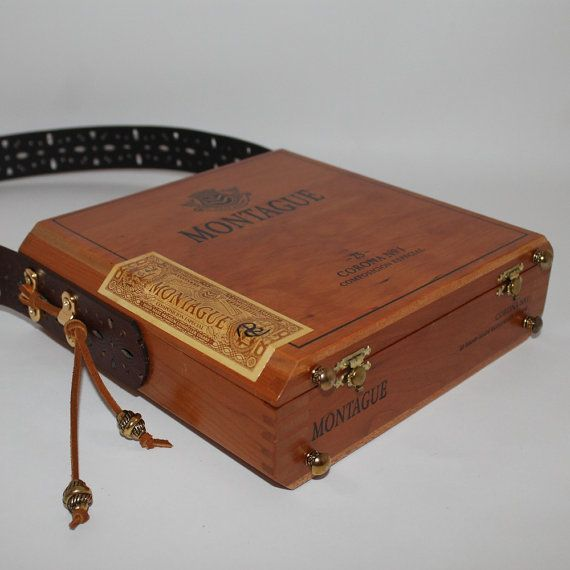 Authentic Cigar Box Purse Wood Montague Corona by pursesperse, $95.00
