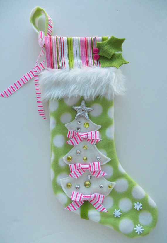 Girls Christmas Stocking by matchymishka on Etsy