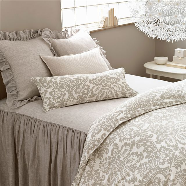 Pine Cone Hill Savannah Linen Chambray Dove Gray Bedspread
