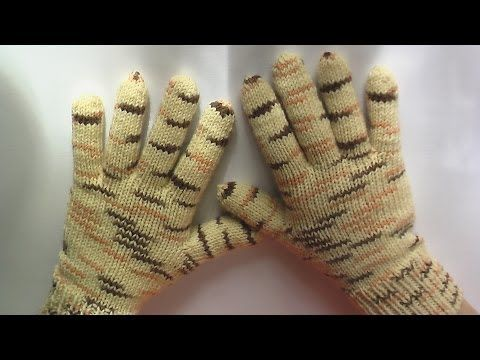 Перчатки. Вязание на спицах. How to Knit Gloves spokes. Link download…