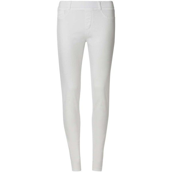 Dorothy Perkins **Tall White 'Eden' Capri Jeggings ($29) ❤ liked - Best 25+ White Capri Leggings Ideas Only On Pinterest White