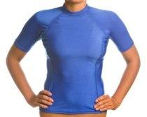Beach Depot UPF 50+ Women's Short Sleeve Rash Guard Shirt - Royal Blue Small