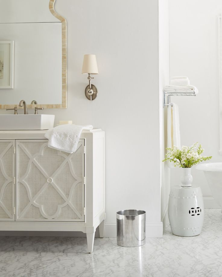 439 best images about color white on pinterest one for All white bathroom designs