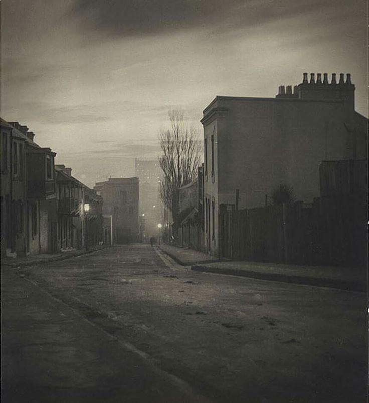 "Harold Cazneaux Lighting up"" Albion Street, Surry Hills 1906"