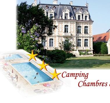 Trogues Camping bij mooi kasteeltje. Leuke omgeving met heel veel kastelen.