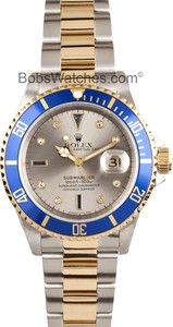 Rolex Submariner Serti Diamond Dial 16613 - Genuine Pre-Owned