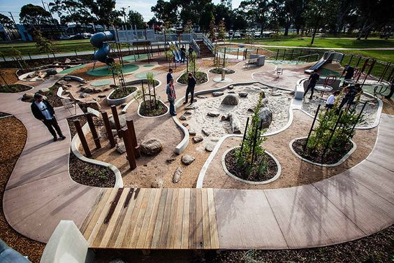 Dandenong Park Regional Playground by ASPECT Studios: