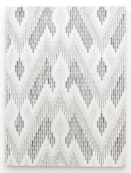 Leslie | Fritz Bargello Magic, Acrylic on MDF, 2013, 17 x 13 inches