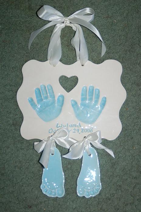 hands & feet: Baby Kids, Baby Handprint, Kids Crafts, Handprint Art Footprint, Hanging Feet, Ceramic, Hand Plaque, Hands Feet On Crafts, Baby Stuff