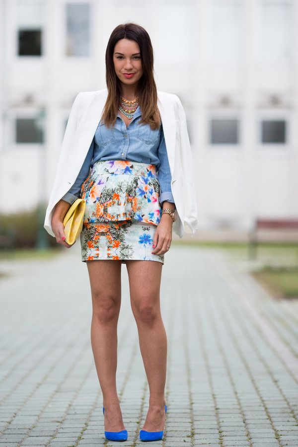 Get this look on @Wheretoget or see more #cashmere_in_style #jewels #shirt #bag #shoes #skirt #jacket