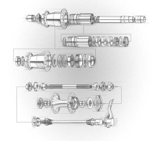Bicycle Rear Hub Exploded View : Best images about exploded view sketches on pinterest
