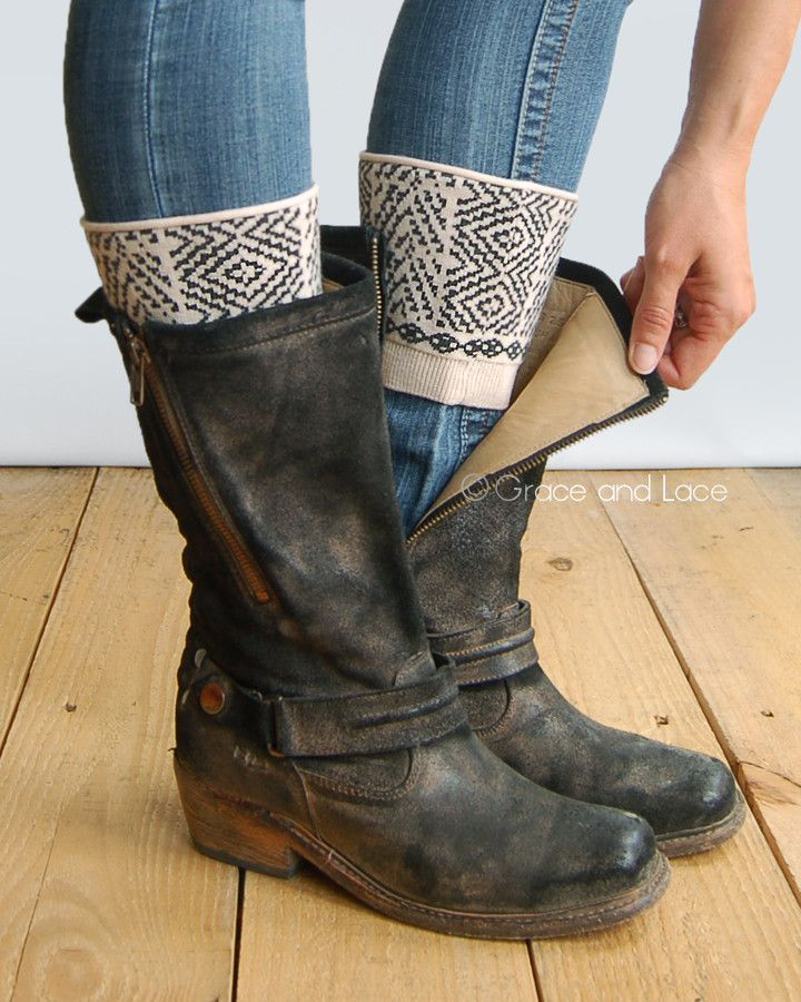 Grace & Lace Patterned Boot Cuffs™ (Southwest)
