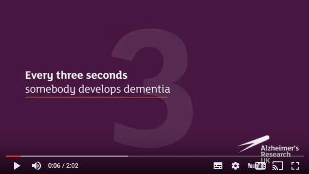 Every 3 seconds somebody develops #dementia. @ARUKnews | http://wu.to/vMOX2M