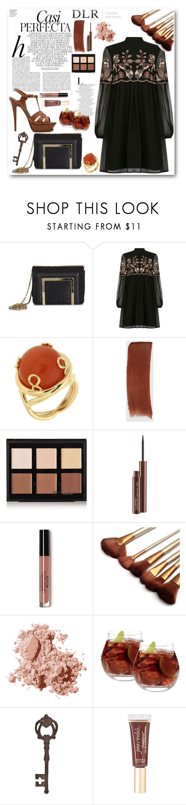 """""""Manuela"""" by ragelove ❤ liked on Polyvore featuring Jimmy Choo, Whiteley, Warehouse, Valentin Magro, Gucci, Anastasia Beverly Hills, MAC Cosmetics, Bobbi Brown Cosmetics, Denby and True Fabrications"""
