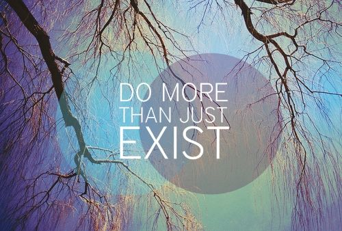 Do more than just exist!