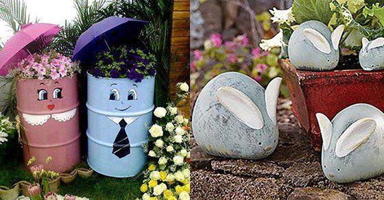 20+ DIY Dekoideen für den Garten – So einfach ist Gartendeko selber machen  Es gibt doch nichts Schöneres als zu sehen, wie aus den Blumenzwiebeln, die man