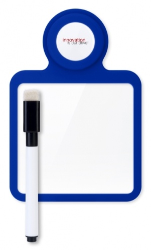 Something to remember ? Just make a small note on your own mini whiteboard. You can put the Cartabello on most surfaces, using the suction function. Including logo plate and whiteboard marker. Available in 6 colours: White, Gray, Green, Blue, Red and Orange. Pricing starts at $7.51 c/pce