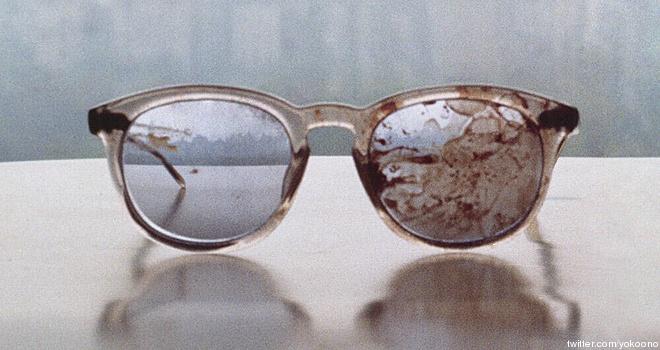 Stop the Insanity! Yoko Ono Joins Gun Debate, Tweets Pic Of John Lennon's Bloody Glasses -