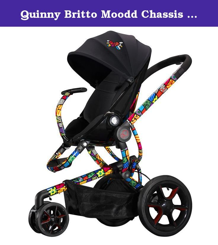 Quinny Britto Moodd Chassis with Black Seat Pad. Use from birth with infant car seat to 50lbs. Unfolds automatically and folds easily. One handed seat recline with 3 forward and 3 rearward positions. Available in fashions featuring black or white frames. Compatible with Quinny tukk foldable carrier, maxi-cosi mico and Prezi infant car seats, adapters included.