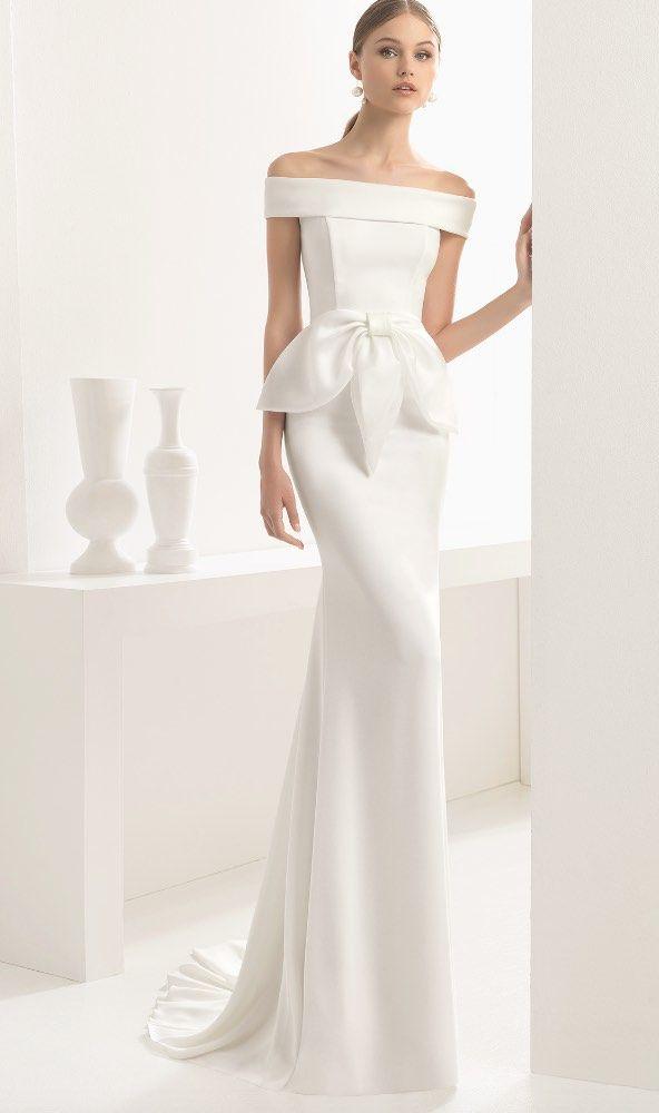 Courtesy of Rosa Clará Wedding Dresses; www.rosaclara.es/en; Wedding dress idea.