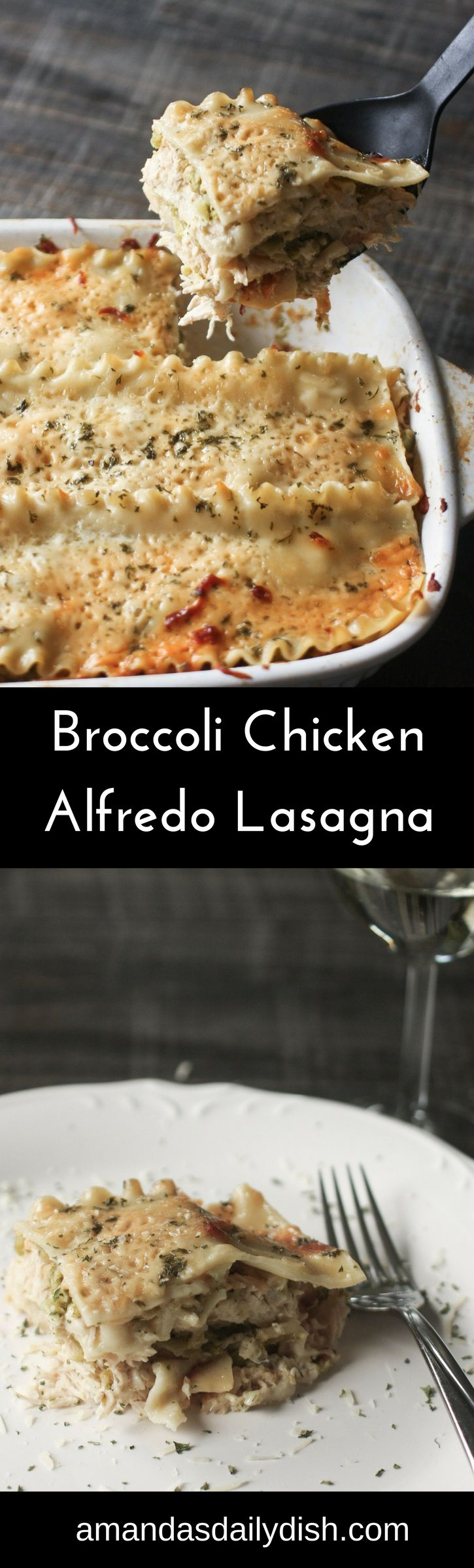 Broccoli Chicken Alfredo Lasagna is a rich and delicious twist on your classic tomato based lasagna. Alfredo Lovers behold!